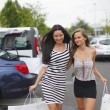 Two woman shopping - Stock Photo