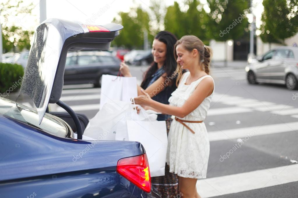 Two woman after shopping  Stock Photo #15851125