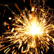 Yellow sparkler - Stock Photo