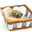Cheese in basket close up — Stock Photo #19025243