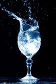 Alcohol splash — Stock Photo