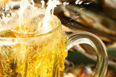 Beer splash — Stock Photo
