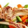 Roasted ribs and vegetables — Stock Photo #20849331