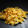 Farfalle - bow shaped pasta — Stock Photo