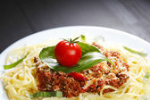 Spaghetti bolognese — Stock Photo