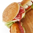 Pile of sandwiches close — Stock Photo #24416003