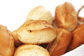Pão isolado no branco — Foto Stock