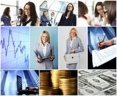 Business conceptual collage — Stock Photo