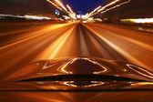 Night drive — Stockfoto