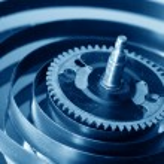 Mechanical clock gear — Stock Photo