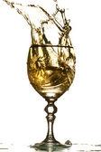 Wine splash — Stock Photo