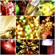 Collage of christmas cards — Stock Photo