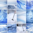 Winter collage of backgrounds — Stock Photo