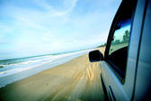 Beach drive — Stock Photo
