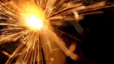 Holiday sparkler — Stock Video