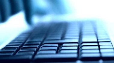 Typing on keyboard closeup view — Stock Video