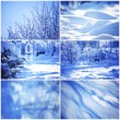 Collage of winter cards — Stock Photo