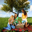 Girlfriends on picnic — Stock Photo #30048399