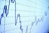 Finansal grafiği — Stok fotoğraf