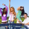 Friends in car — Stock Photo #30400137
