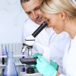 Stock Photo: Scientist in chemical lab