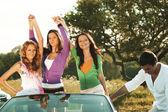 Amici in auto — Foto Stock