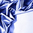 Stock Photo: Blue satin