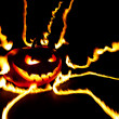 Burning halloween pumpkin — Stock Photo