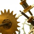 Stock Photo: Mechanical clock gear