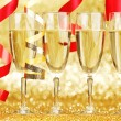Champagne and ribbons — Stock Photo #33276563