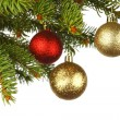 Christmas decoration on fir — Foto Stock