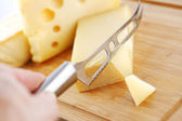 Cheese with a cheese knife — Stock Photo