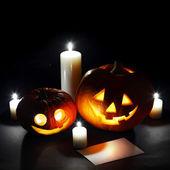 Художественное оформление Хэллоуина — Стоковое фото