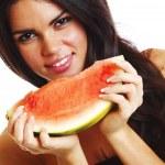 Eat watermelon — Stock Photo #33754727
