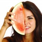 Eat watermelon — Stock Photo #34293841