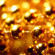 Stock Photo: Golden stars background