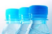 Blue water in bottle — Stock Photo