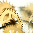 Mechanical clock gear — Stock Photo