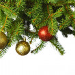 Christmas decoration on fir — Stock Photo
