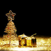 Christmas tree and gifts — Foto Stock