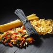 Stock Photo: Variety of types and shapes of Italipasta