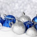 Christmas balls and gifts — Stock Photo #35146623