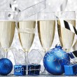 Champagne and decoration — Stock Photo #35656439