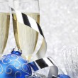 Champagne and decoration — Stock Photo #35656461