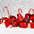 Christmas decoration and candies — Stock fotografie