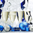 Champagne and decoration — Stock Photo #36096065