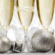 Champagne and decoration — Stock Photo #36096085