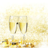 New year champagne — Stock Photo