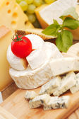 Cheese on a wooden table — Stock Photo