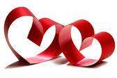 红色的心丝带 — 图库照片